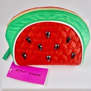 Betsey Johnson-Quilted Kitsch Clutch Watermelon